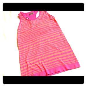 Nice sz S ATHLETA pink & orange racer back bra top